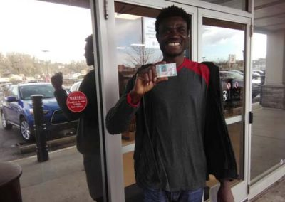 Abdul gets his license on his first try with a perfect score!