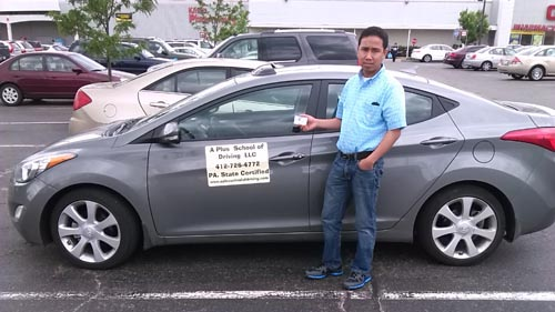 Ajoy gets his licenseon his first try!
