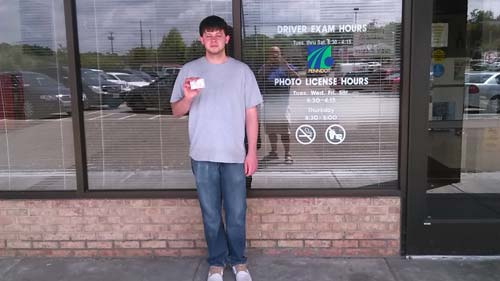 Allen gets his license