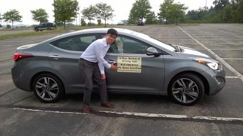 Eric practicing parking!