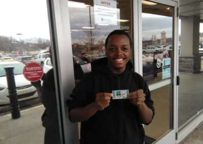 Michael gets his license with a perfect score!