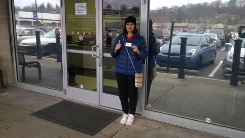 Richa gets her license on the first try with a perfect score!