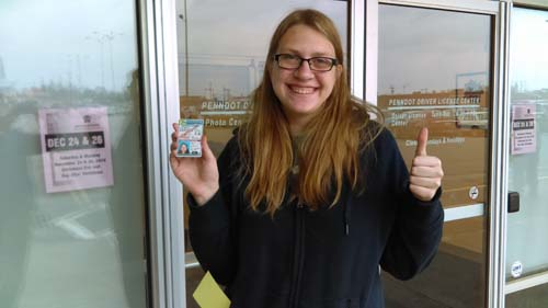 Taylor gets her license on her first try with a perfect score!