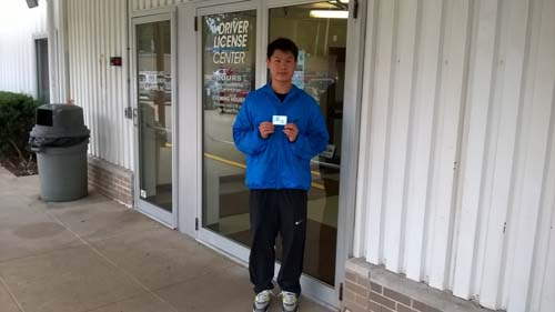 Tlanging gets his license on the first try with a perfect score
