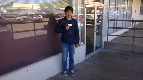 Zeyu gets his license on his first try