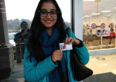 Aarushi gets her license with a perfect score!
