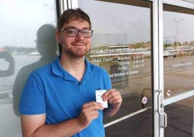 Clark gets his license with a perfect score!